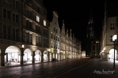 Häuserzeile mit Bogengängen am Prinzipalmarkt Münster
